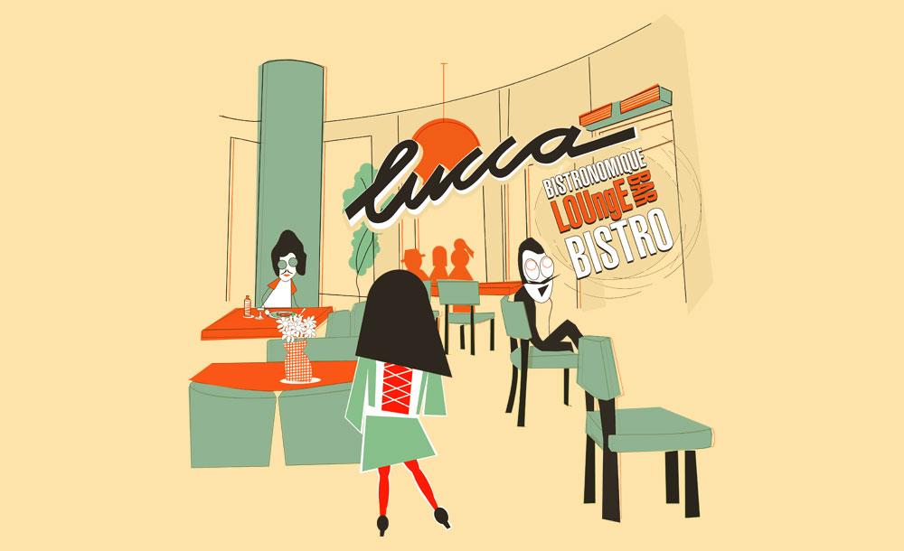 Volkan Aksoy Marka Stratejisi ve Tasarım Çözümleri - Lucca Bistro T Shirt