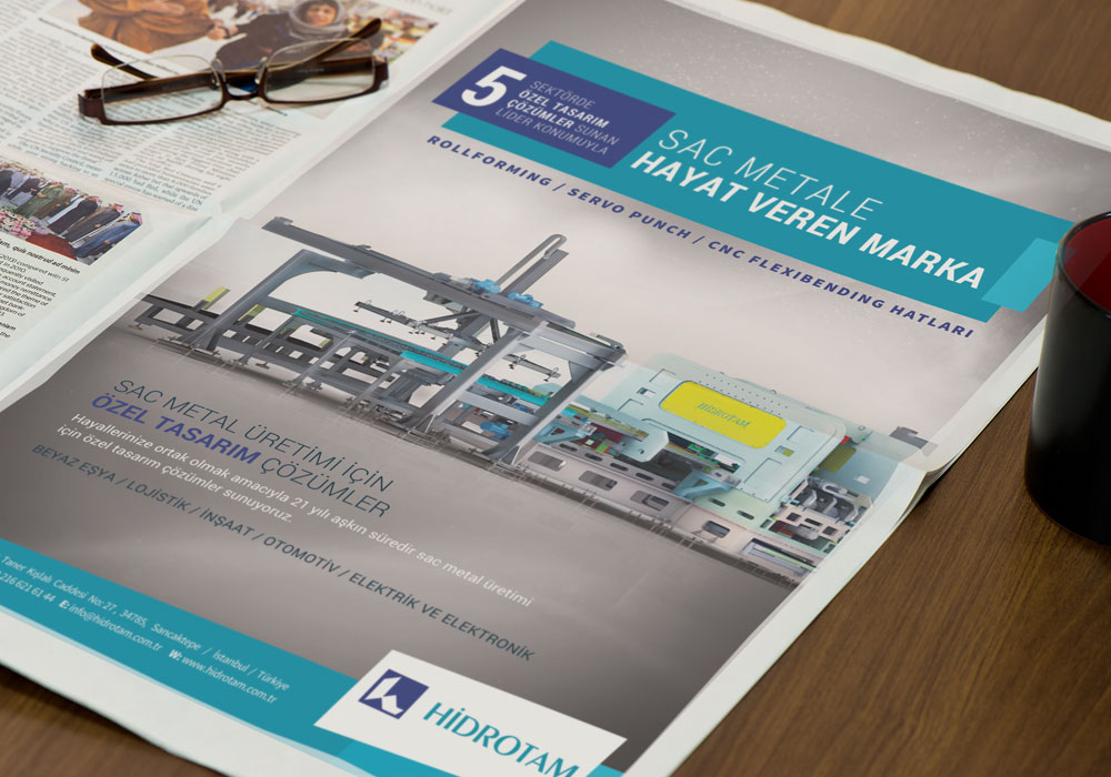 Volkan Aksoy Marka Stratejisi ve Tasarım Çözümleri - Hidrotam - Basılı İşler